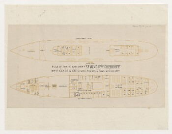 Plan of the Steamships Seminole and Cherokee