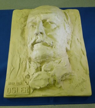 Bas-relief sculpture of head of Sir William Osler by Doris Appel, mid-20th century