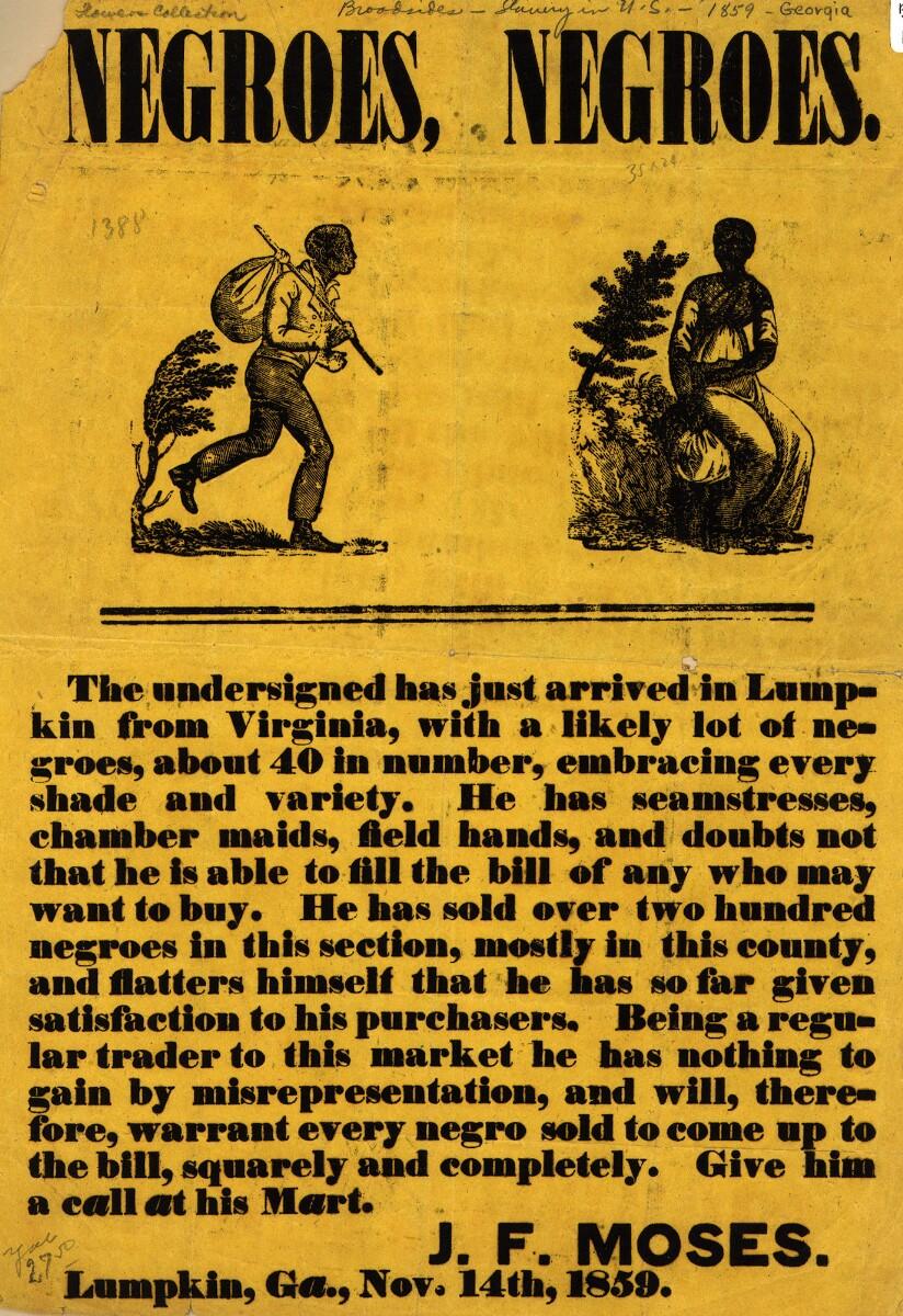 La publicidad que hoy nos horrorizaría: la venta de esclavos