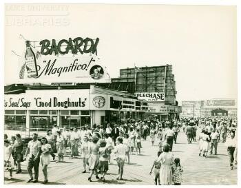 Bacardi, rum, alcoholic beverages, Sunburn Lotion, Alcoholic Beverages, ale, beer (3 advertisements)